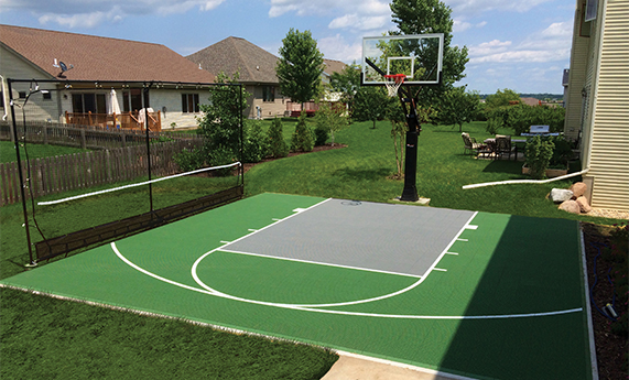 Artificial Turf Surfacing Basketball Courts Playn Wisconsin