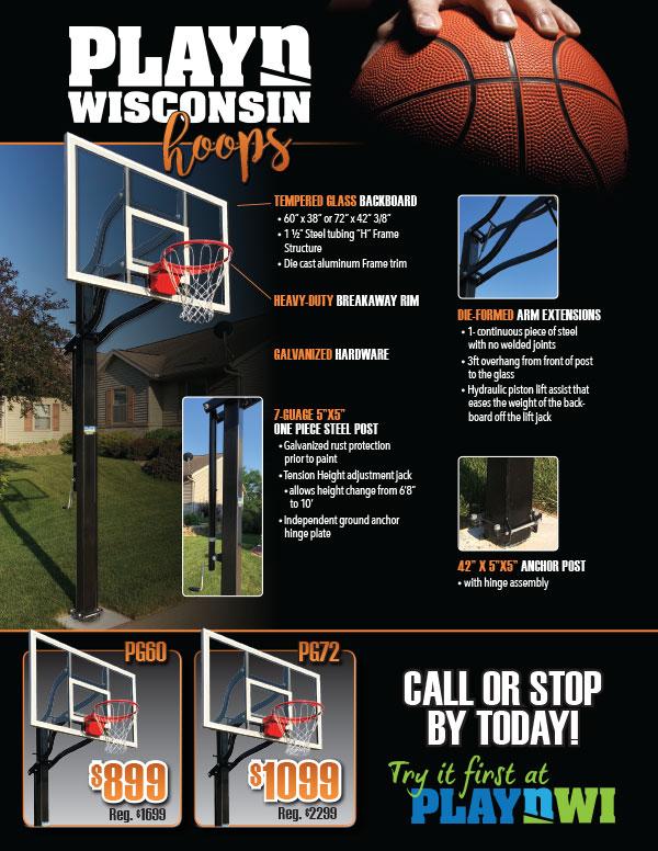 basketball hoop, goals, madison, in-ground